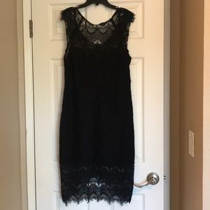Free People Black Lace Dress Size Large